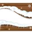 Snowing billboard vector image