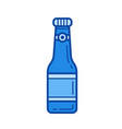soda bottle line icon vector image vector image