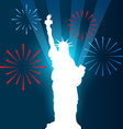 statue of liberty shullouette vector image
