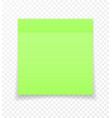 sticky paper note with shadow effect blank color vector image vector image