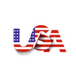 USA symbol USA flag icon vector image