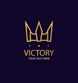 victory crown emblem for luxury shopping vector image
