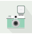 vintage retro plastic camera icon vector image