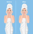 woman skin care vector image