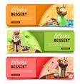 extreme rich dessert horizontal banners set vector image