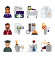 hotel accommodation workers personal professional vector image