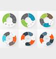 circle arrows infographics set Template