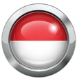 Indonesia and Monaco flag metal button vector image