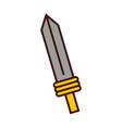 sword weapon warrior game vector image