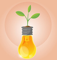 Tree Plant Organic Lamp Symbol vector image
