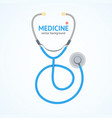 flat stethoscope medicine healthcare concept vector image