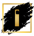 hotel door hanger tag sign golden icon at vector image