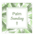 palm sunday banner as religious holidays vector image