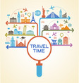 a set of elements for travel and vacations vector image vector image