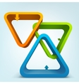 Abstract 3d frames vector image