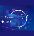 abstract gradient blue color tech realistic 3d vector image vector image