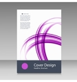 Abstract line brochure design vector image vector image