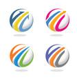 arrow finance circle icon vector image