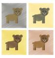 assembly flat shading style icons cartoon bear vector image vector image