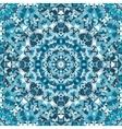 blue ornamental circular kaleidoscope pattern vector image vector image