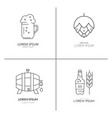 brewery logo collection vector image vector image
