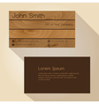 brown wood simple business card design eps10 vector image vector image
