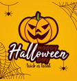 cartoon for halloween day autumn vector image
