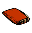 cartoon image of folder icon vector image vector image