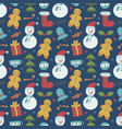 childish christmas seamless pattern vector image vector image