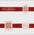 christmas festive banners with red ribbons vector image vector image