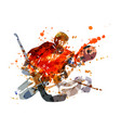 colorful hockey goalie vector image vector image