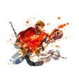 colorful hockey goalie vector image