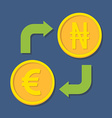 Currency exchange Euro and Naira vector image vector image