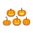 cute halloween pumpkins vector image