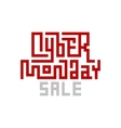 Cyber Monday Sale Lettering vector image vector image