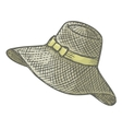 female summer hat vector image vector image
