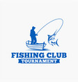 fishing fishing logo badge 5 vector image vector image
