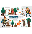 flat hunting infographic template vector image vector image