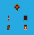 flat icon cacao set of chocolate bar wrapper vector image vector image