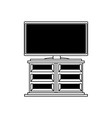 flat television icon vector image vector image