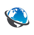 global planet earth logo icon vector image
