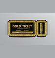 golden ticket vector image vector image