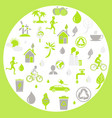 green ecology and earth protection themed signs vector image