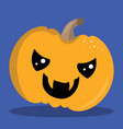 halloween pumpkin crazy 03 vector image vector image