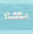 hand lettering hello summer vector image