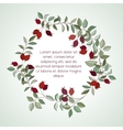 Hawthorn invitation card vector image