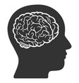 head brain icon vector image