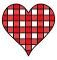 heart love with grid vector image