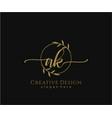 initial ak beauty monogram and elegant logo design