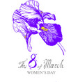 irises violet flower isolated vector image